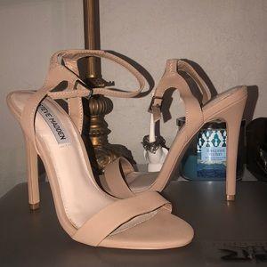 """Tan nubuck heels """"landen"""" Steve Madden"""